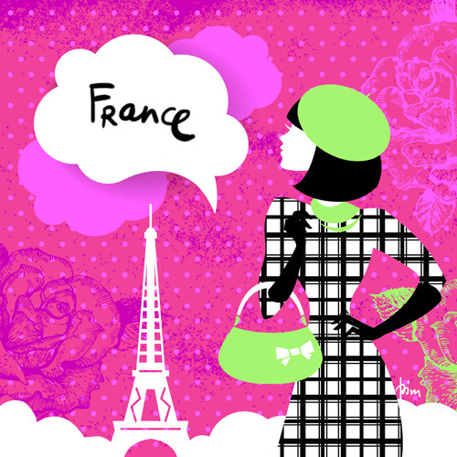 woman girl country city background Silhouette Shopping design modern vintage Retro england Russia Italy france