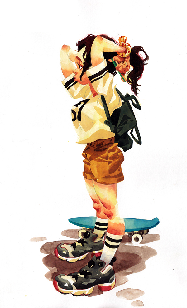 Skate Boarders by minjung kang