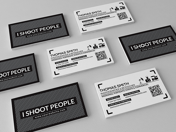 Free photography business card template on behance wajeb Image collections