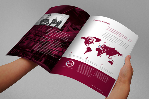 red annual report brochure indesign template on pantone canvas gallery. Black Bedroom Furniture Sets. Home Design Ideas