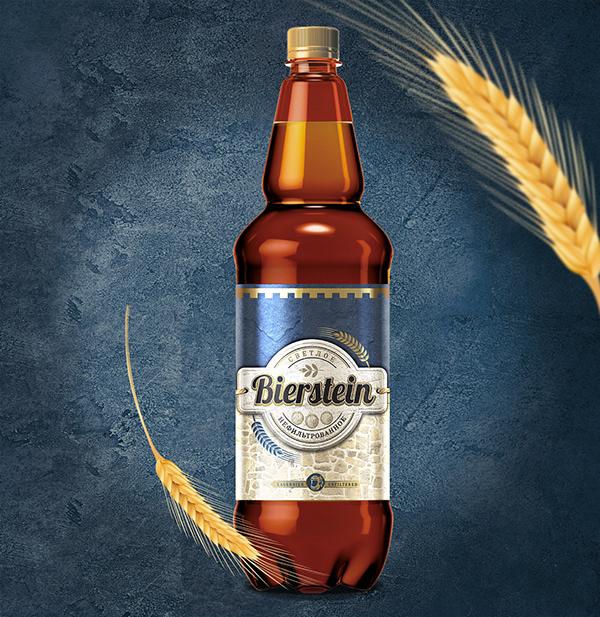 """Дизайн этикетки для псевдоимпортного пива """"Bierstein"""""""