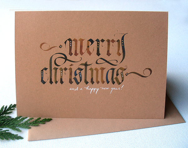 Calligraphy christmas cards on behance