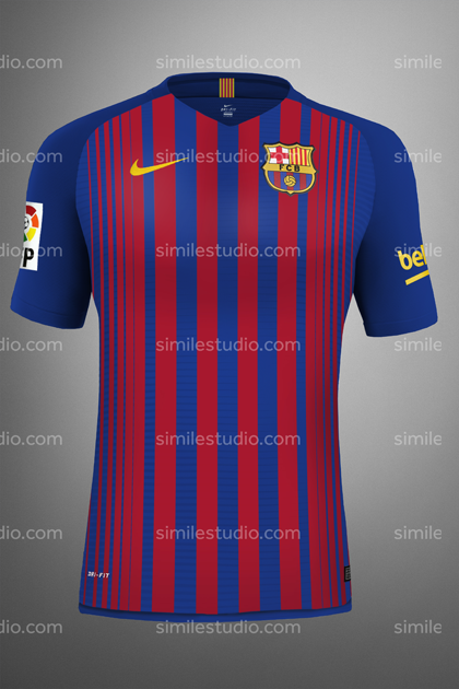 3c1b3af310417 Camiseta Local. Save to Collection. Follow Following Unfollow. F.C.  Barcelona 2017 2018 ...