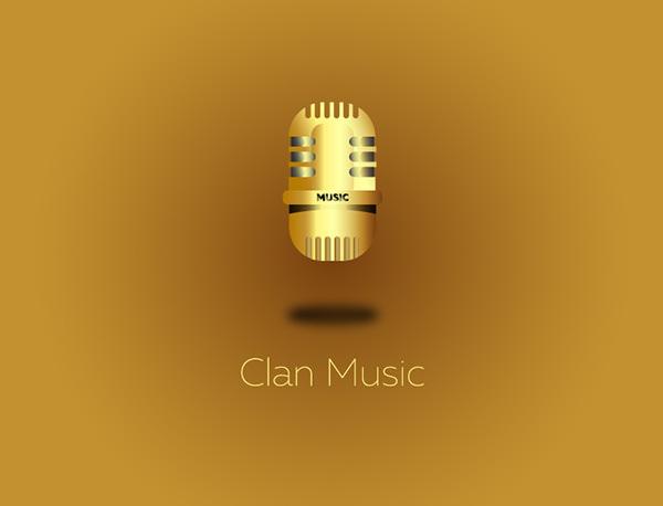Classic Mic Logo - Simple to Metallic