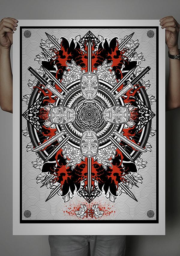 3 Series Devile Samurai Clothing Project On Behance
