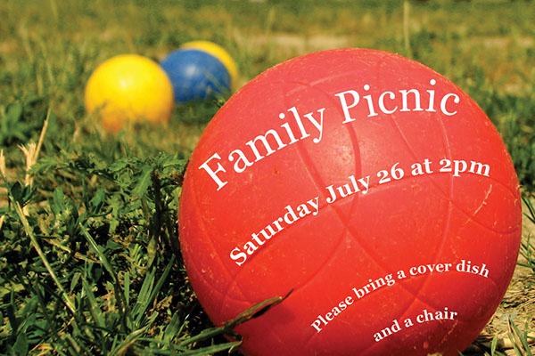 family picnic invitations on behance