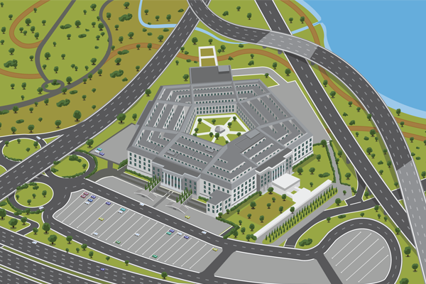 Map Of Pentagon The Pentagon Map on WaGallery