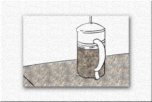 Coffee preparation storyboard on Wacom Gallery