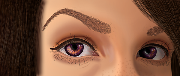 eyes  Purple  gold purple gold