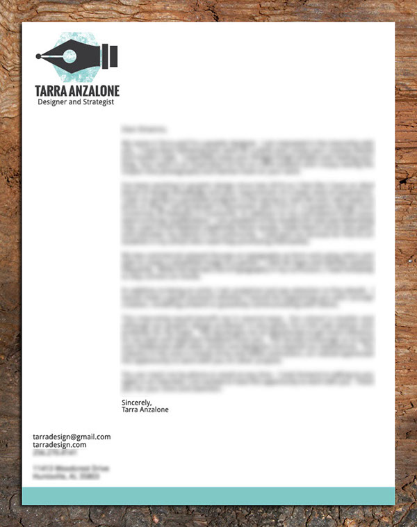 Cover Letter and CV on AIGA Member Gallery