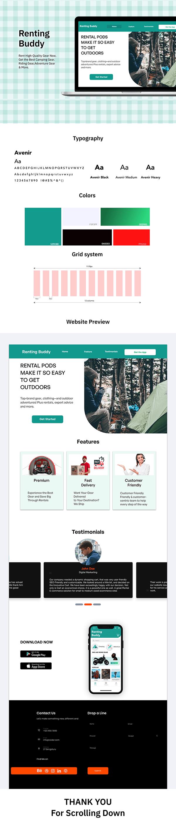 Website presentation-Rental App