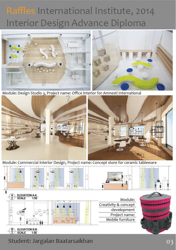 Interior Design Students Projects Teaching At Raffles On Behance