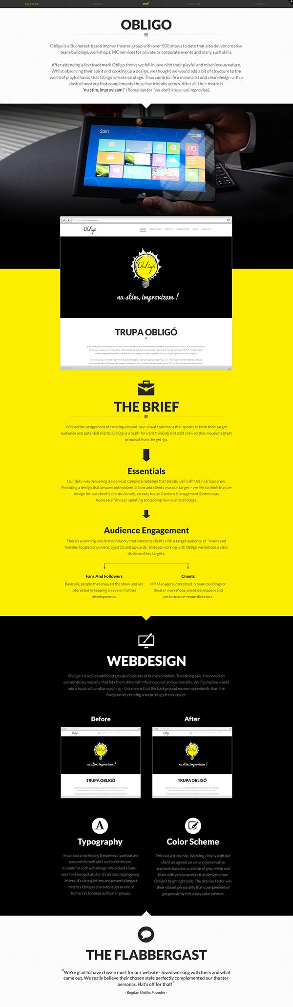 Webdesign redesign theater