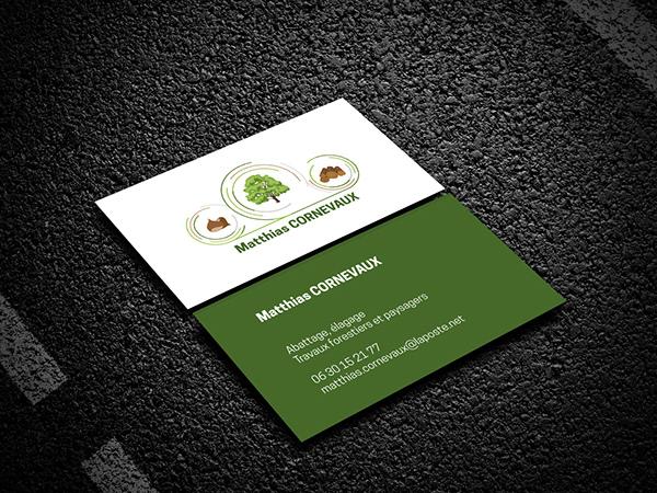 logo, identité, bucheron, carte de visite, magnet, sticker, graphiste, lozère, cévennes, julie mercey