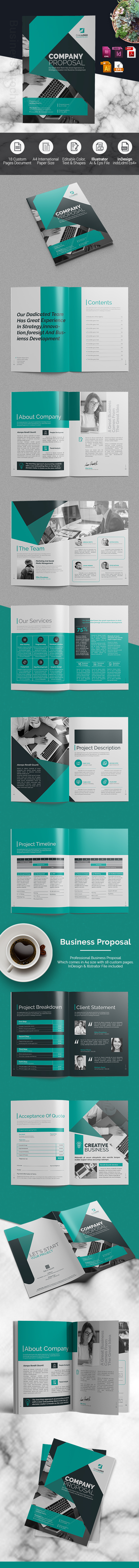 Business Proposal Indesign Template On Behance