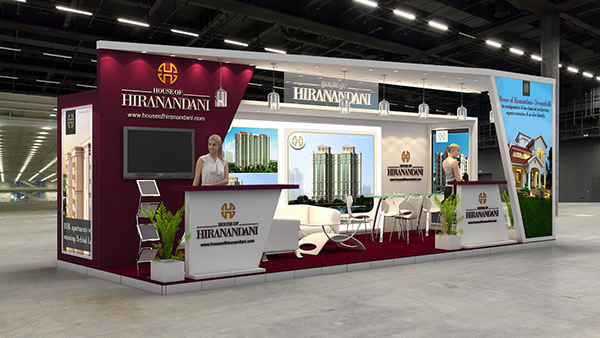 Property Exhibition Booth Design : House of hiranandani exhibition for indian propertyshow on