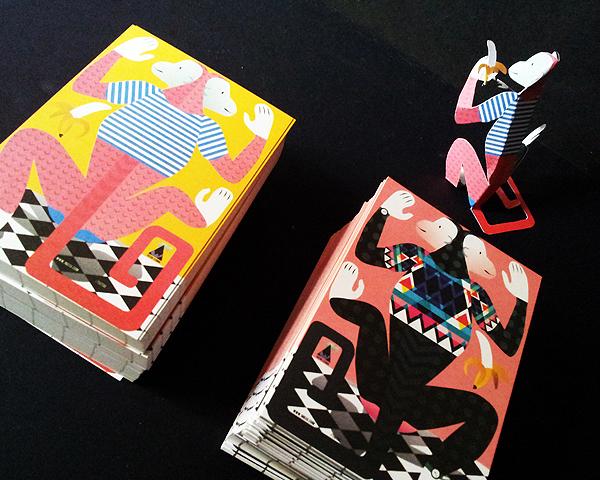 papertoy postcard monkey editorial graphic design tictoc studio