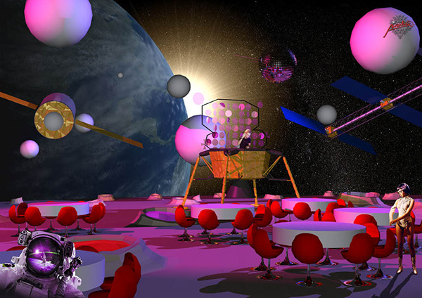 Festival theatre event design on behance for Outer space stage design