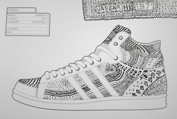 Sneaker Coloring Book On Behance