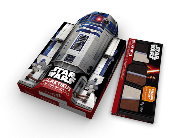 R2 3D packaging models for chocopoint Star Wars chocolate specials