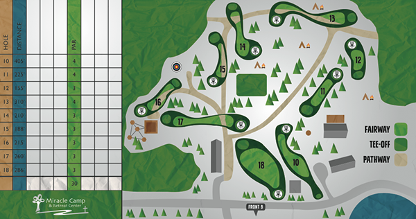 Miracle Camp frisbee golf Disc Golf Score Card summer camp