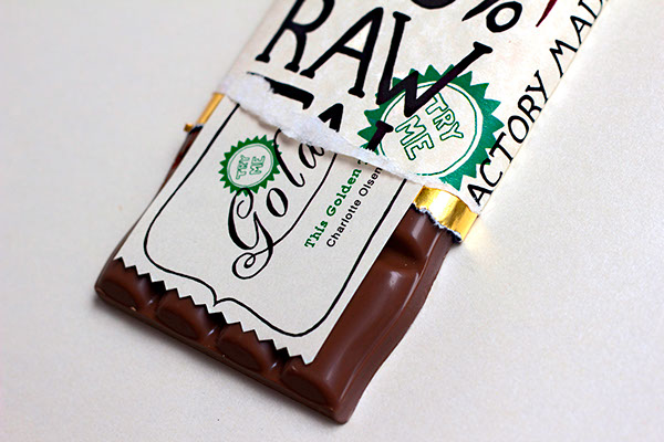 chcolate golden ticket  Raw Self Promotion  package package design
