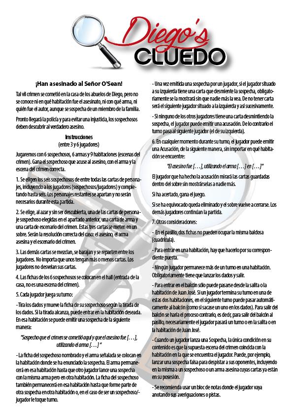 Instrucciones de Diego's Cluedo 3
