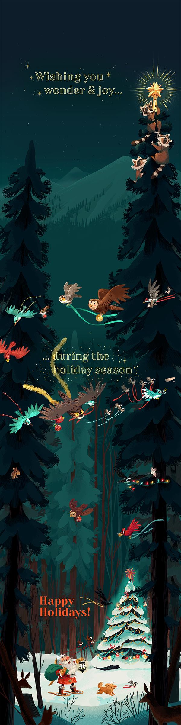 極美的34款聖誕卡片設計欣賞