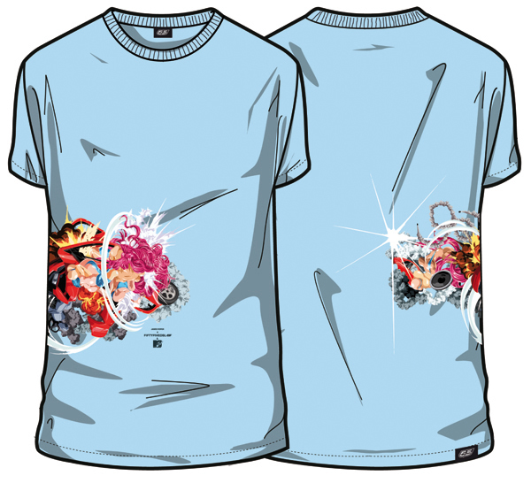 Mtv 55dsl universal everything Ident Cars sound t-shirt Collaboration hair explosion