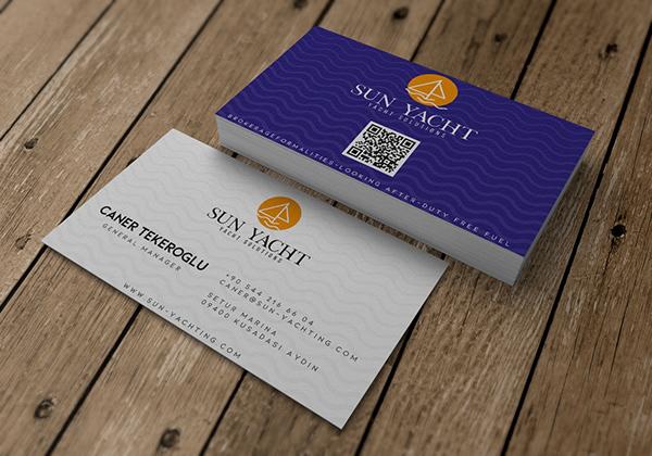 Sun Yachting Business Card Design