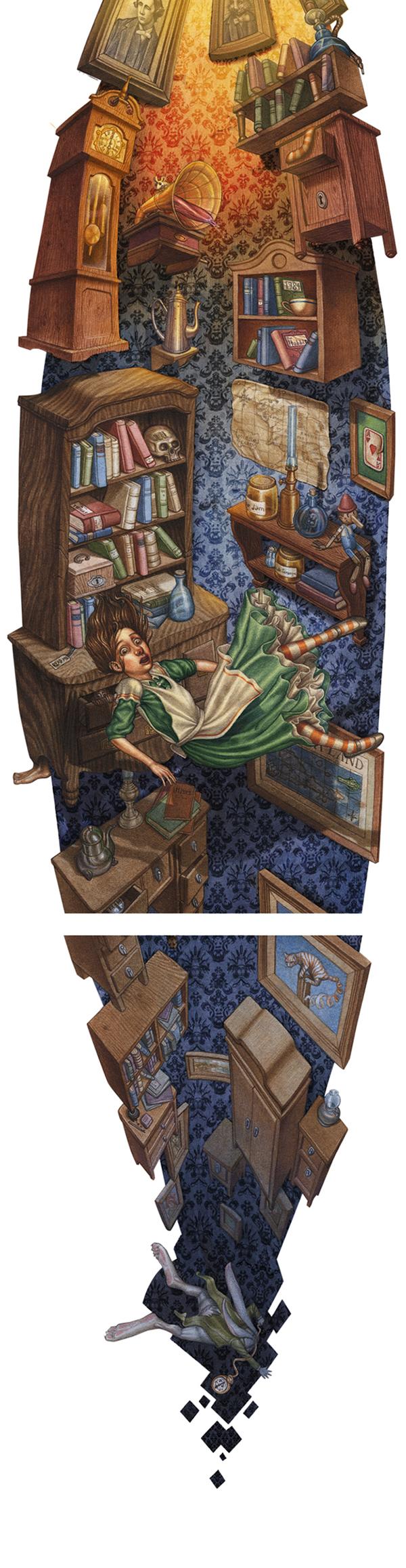 Alice In Wonderland Book Report Ideas : Alice in wonderland pop up on behance
