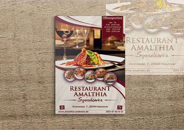 menu card designs for restaurants