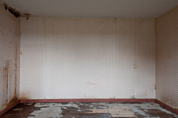 abandoned desolate shuttered rooms environment