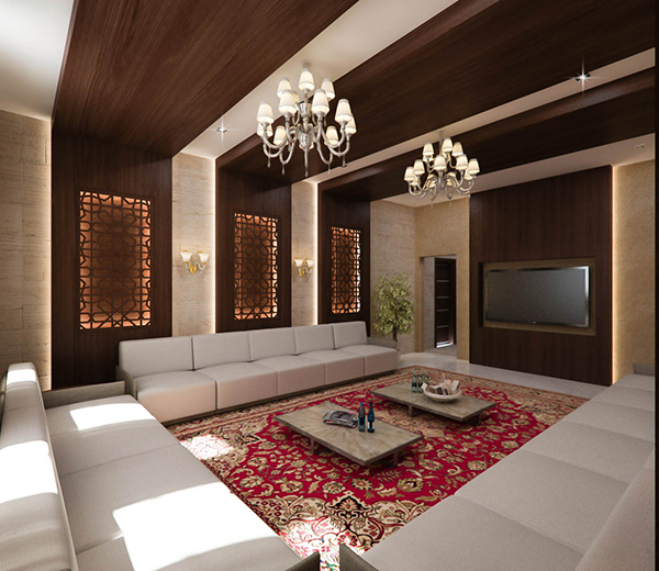 Traditional Interior Design By Ownby: Traditional Kuwaiti Diwaniya Design On Behance