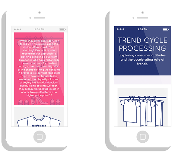 Clothing Retail mobile Web research Icon photo Exhibition  closet interactive guide to care tag hanger trend Style