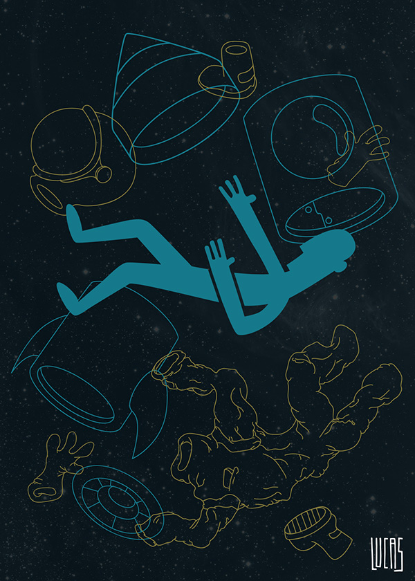 poster t-shirt Space  star wars Star Trek sci-fi sci Scifi Ilustração espaço