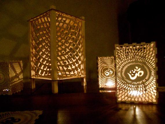 Om Laser Cut Meditation Lantern On Behance