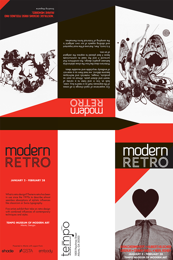 modern retro brochure design on behance