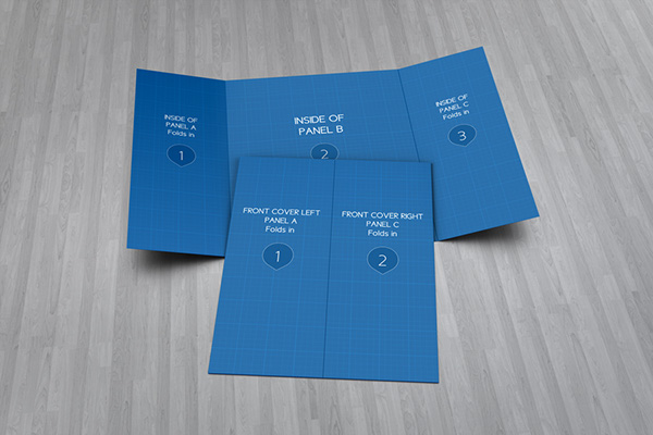 Gate Fold Brochure Mock-Up on Behance