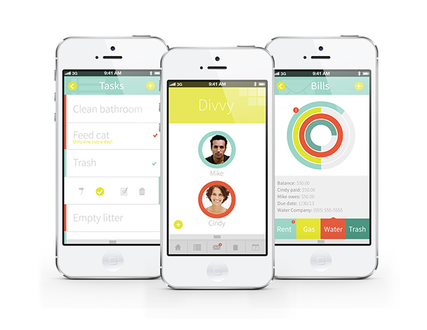 divvy app on behance