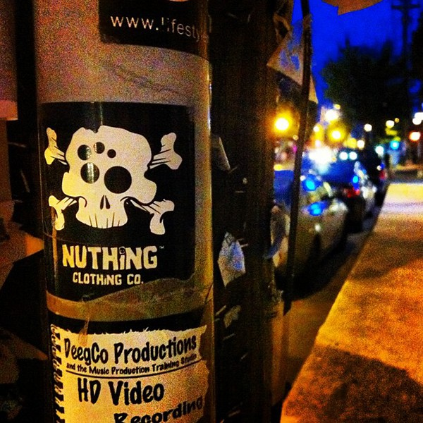 nuthing nuthing clothing co. skateboarding Clothing prints apparel sticker collage Custom Lettering circles origami