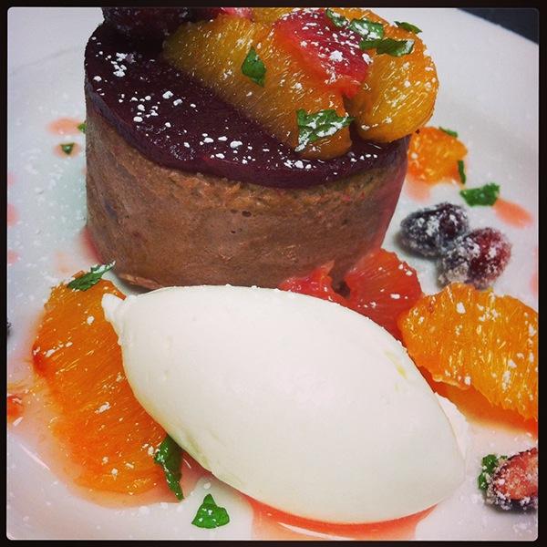 Chocolate Cranberry Petite Gateaux