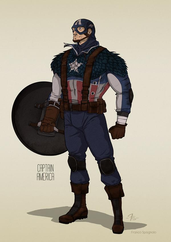 Marvel Character Design Behance : The avengers concept characters design on behance