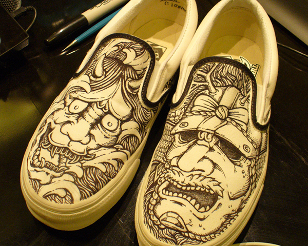 Drawing of Vans Shoes Drawing on Vans Shoes