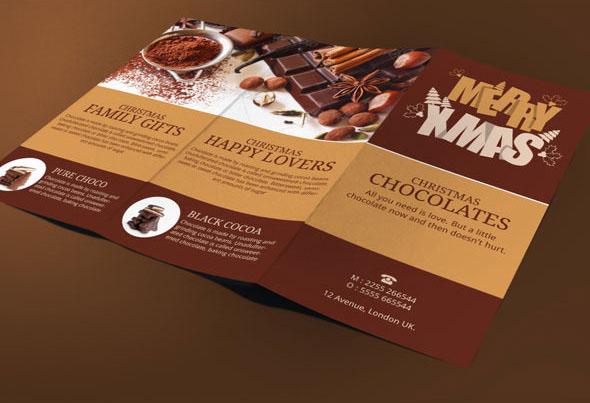 Christmas Chocolates Brochure Design On Behance