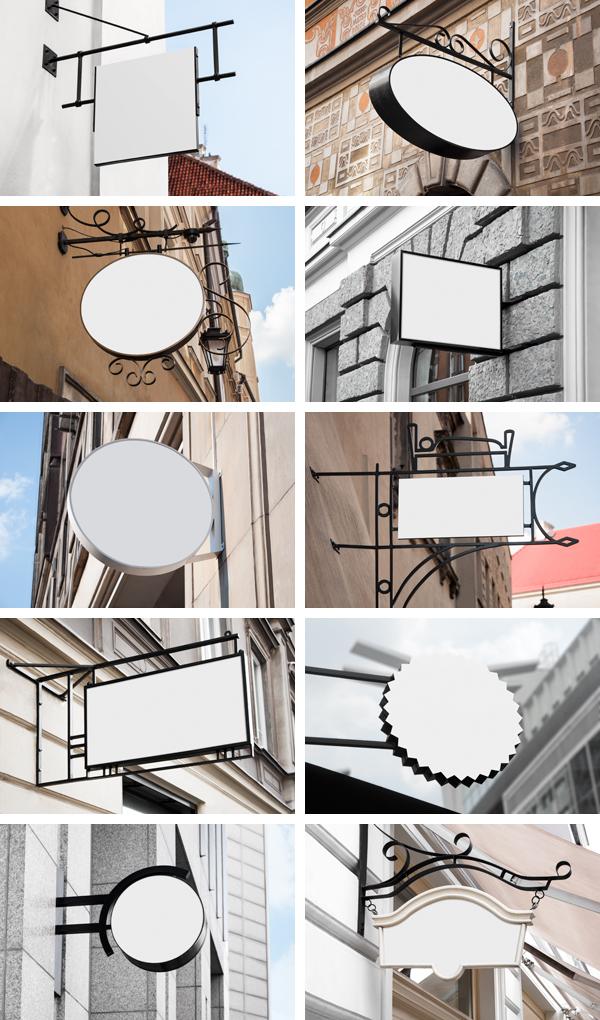 logo template mock up identity stationary frame Shopwindow Hipster wood Board stock wall Retro psd presentations