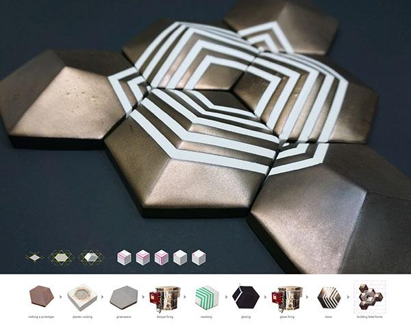ceramic type 3D 3D Type modular Modular type hexagon