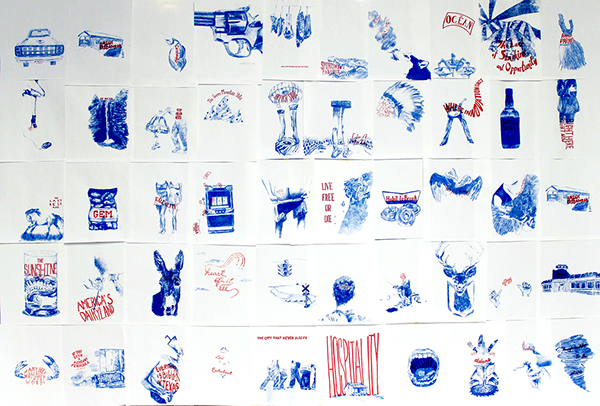 screenprint graphic design illustrate draw handtype type handletter hand letter hand type america states usa