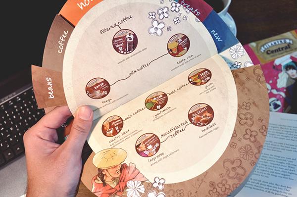cilantro café menu on behance