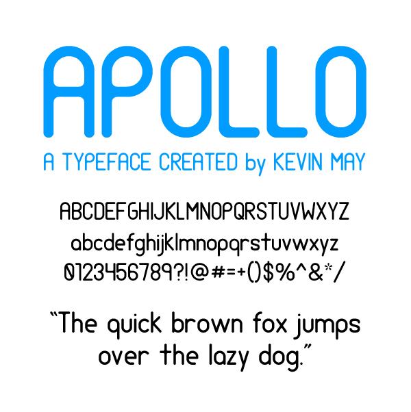 Apollo Typeface sans serif Kevin May